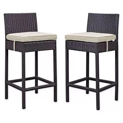 modway lift outdoor patio bar stools set of 2
