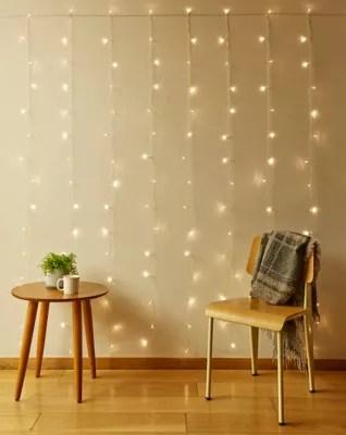 150 light led curtain string lights in