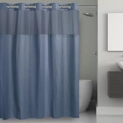 brown blue shower curtain bed bath