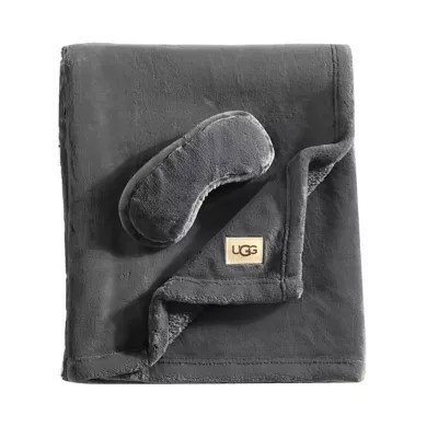 ugg coco 2 piece travel set in charcoal