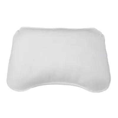 malouf memory foam shoulder cut queen side sleeper pillow in blue