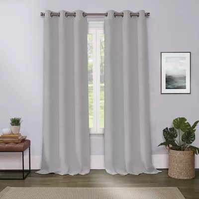 silver curtains bed bath beyond