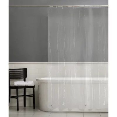 hookless it s a snap 70 inch x 54 inch fabric shower curtain liner in white