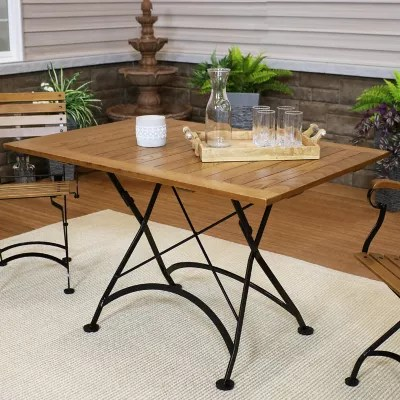 folding outdoor dining tables bed