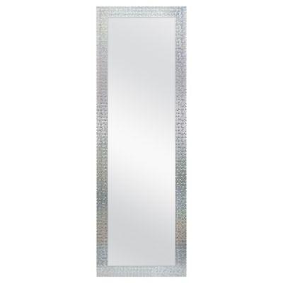 Mosaic Tile 18 Inch X 54 Inch Rectangular Over The Door Mirror