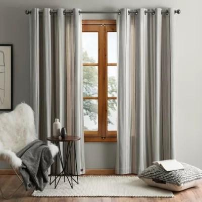 ugg lunar stripe grommet window curtain panel