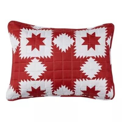 red pillow shams bed bath beyond