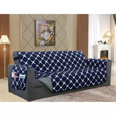 blue sofa slipcover bed bath beyond