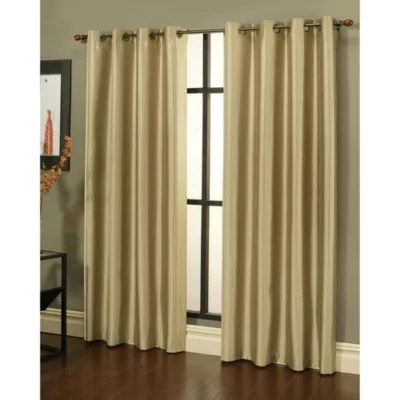 Sherry Kline Faux Silk Grommet Blackout Window Curtain Panels Set Of 2 Bed Bath Amp Beyond
