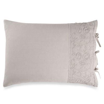 wamsutta vintage floral embroidery pillow sham