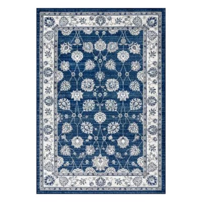 navy blue area rugs bed bath beyond