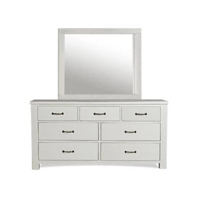 hillsdale furniture kids teen highlands 7 drawer dresser and mirror set in white