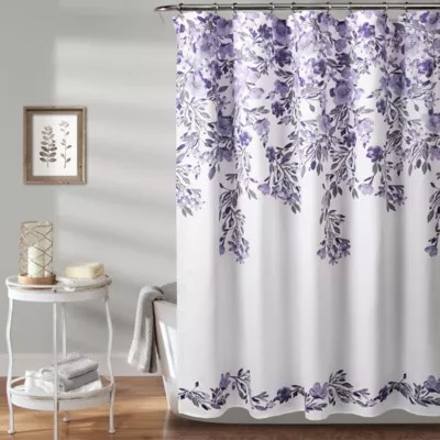 purple shower curtains bed bath beyond