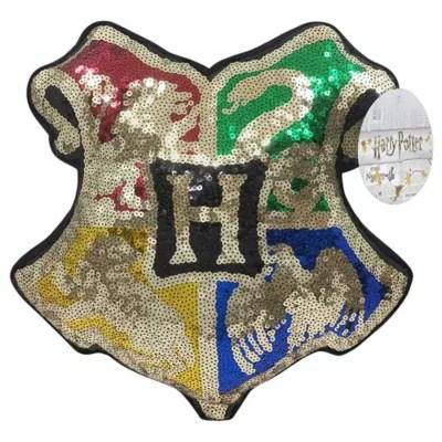 harry potter reversible sequined decorative pillow
