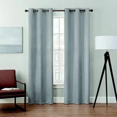 brookstone velvet solid 2 pack 100 blackout grommet window curtain panels
