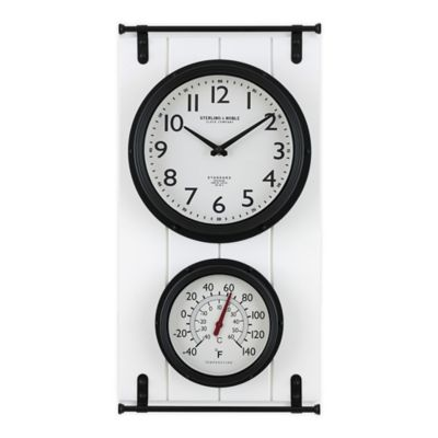 outdoor clocks and thermometers bed