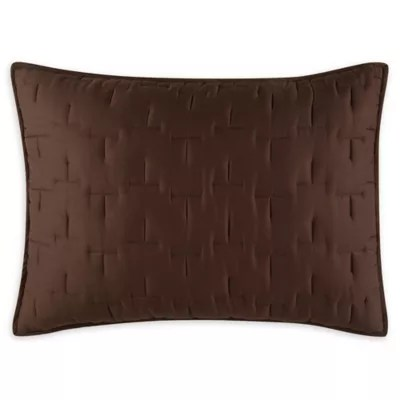 brown quilted pillow shams bed bath