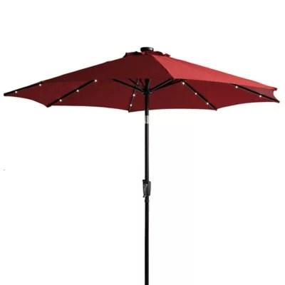 9 foot round solar patio umbrella