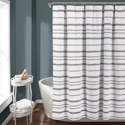 farmhouse style shower curtain bed