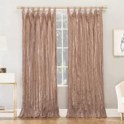 dkny modern knotted velvet 2 pack rod pocket room darkening window curtain panels