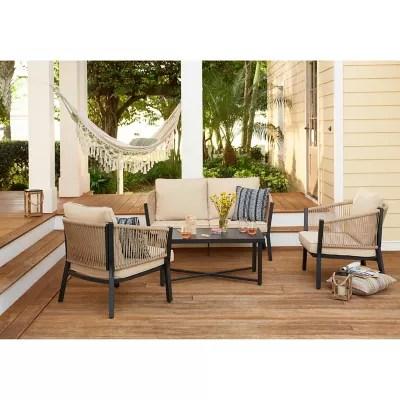 destination summer 4 piece patio conversation set