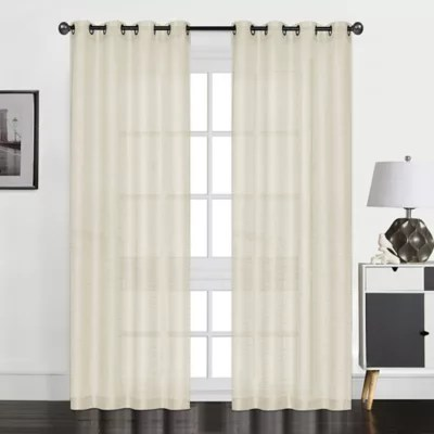 textured sheer curtains bed bath beyond