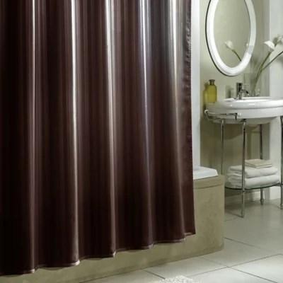 damask stripe fabric shower curtain