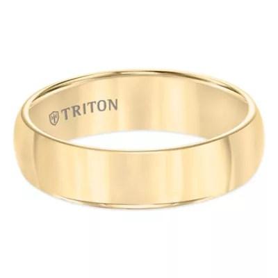 Buy Triton Yellow Tungsten Carbide Domed Size 11 Mens
