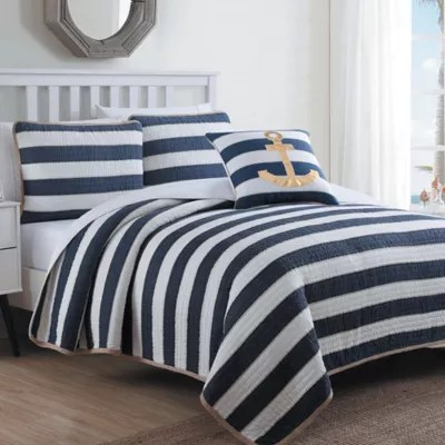 Navy King Quilt