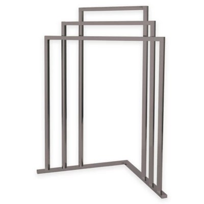 kingston brass 3 tier freestanding corner towel rack