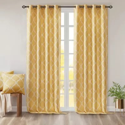 yellow panel curtains bed bath beyond