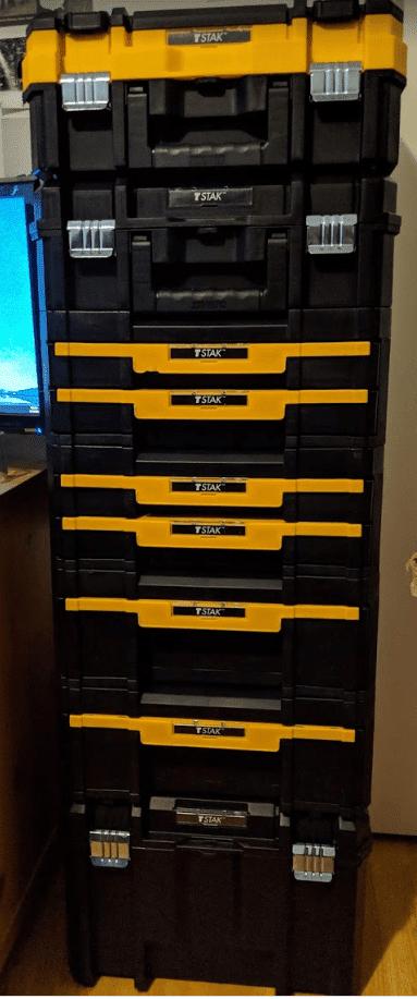 DeWalt TSTAK toolboxes