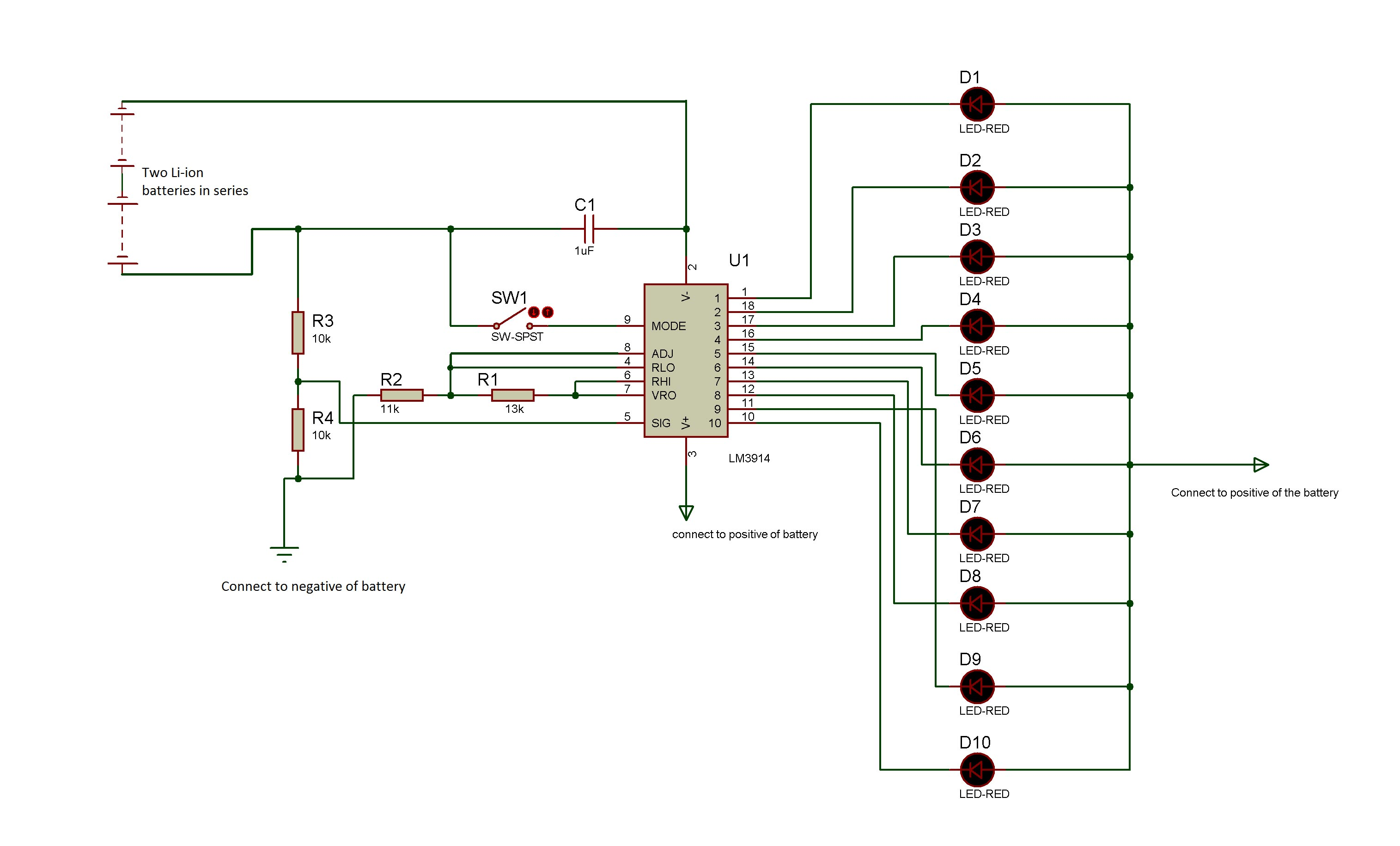 Make A Battery Level Indicator Using Lm Ic Part 6 9