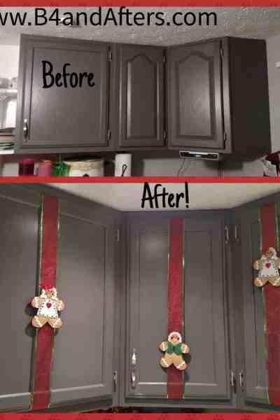 Kitchen Cupboard Christmas Decor