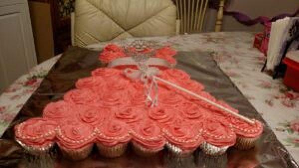 Easy Princess Dress Cupcake Birthday Cake
