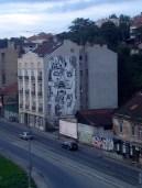 Artwork and graffiti.