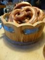 First pretzel.