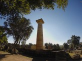 One of the few standing pillars, Temple of Hera, Olympia.