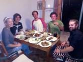 Bangers and mash with Greek sausages. A bit strange.