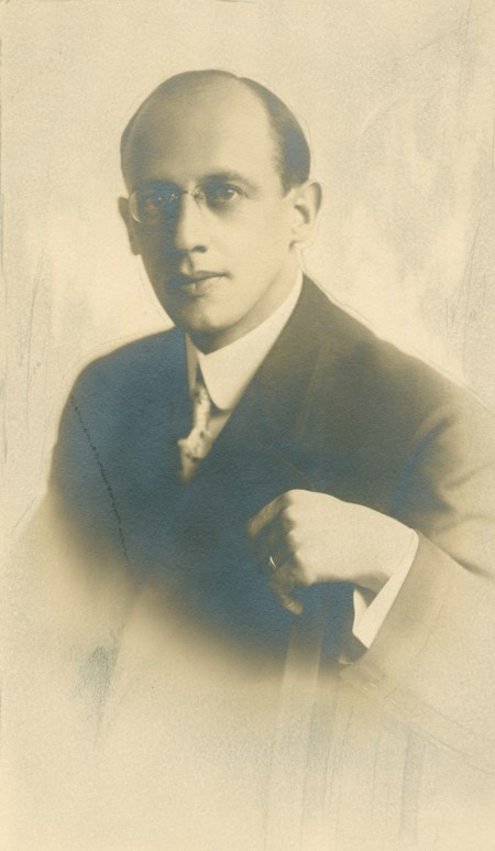 Julius Webster Augustine in undated photo c1920. From Sara McMullen. (Full Size)
