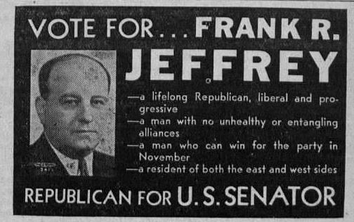 Campaign ad from the September 7, 1934 Monroe Monitor