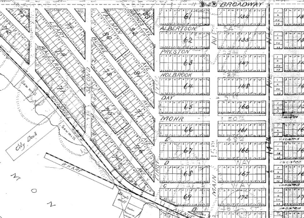 Ballard's original street names, from the 1888 plat for Gilman Park Addition by the Learys, Ballards and Crawfords.