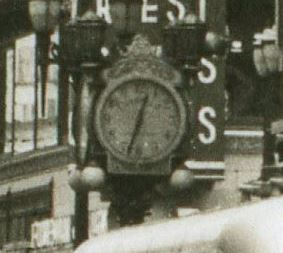 Thomas Carroll's clock installed in 1930 at 343 Pike (https://www.flickr.com/photos/tigerzombie/5460636458/)