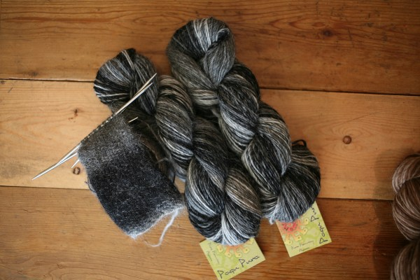 Really excited by this new yarn from Mirasol - this is just a taste of the soft alpaca!