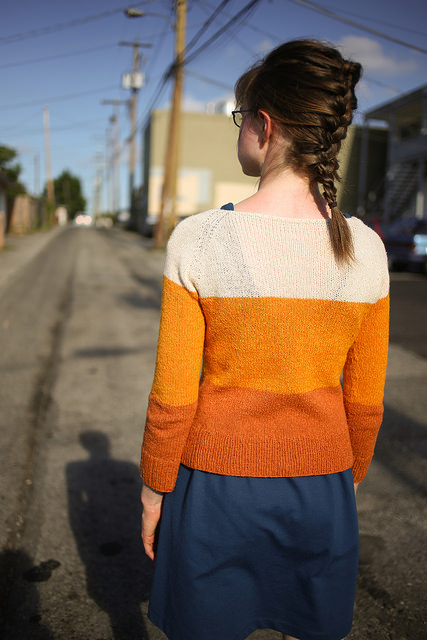 Gradient Pullover knit in Silky wool