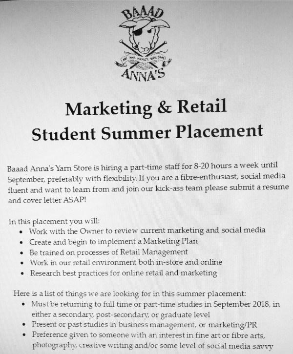 Wanted Summer Social Media Coordinator