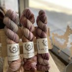 Darjeeling Sock L-R: Smoky Quartz, Rose Apothecary, Heirloom