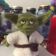 Felted Yoda. Photo courtesy of Mel Broome.