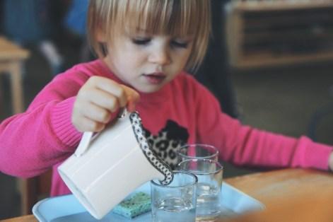 Kết quả hình ảnh cho kid pouring water montessori