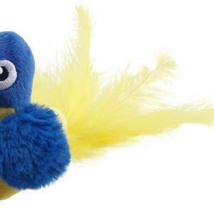 BAASJE-DIERENOPPAS-BOETIEK-GIGIWI_MelodyChaser_Mouse_BlueParrot-melody chaser - papegaai - blauw